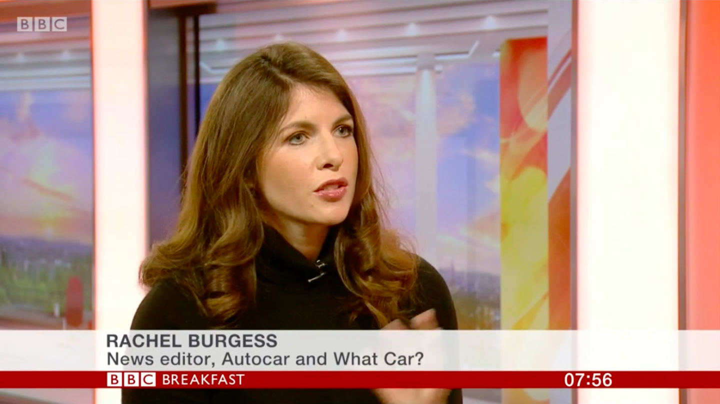 New Car Sales 2018 - Rachel Burgess Features On The BBC Breakfast Show