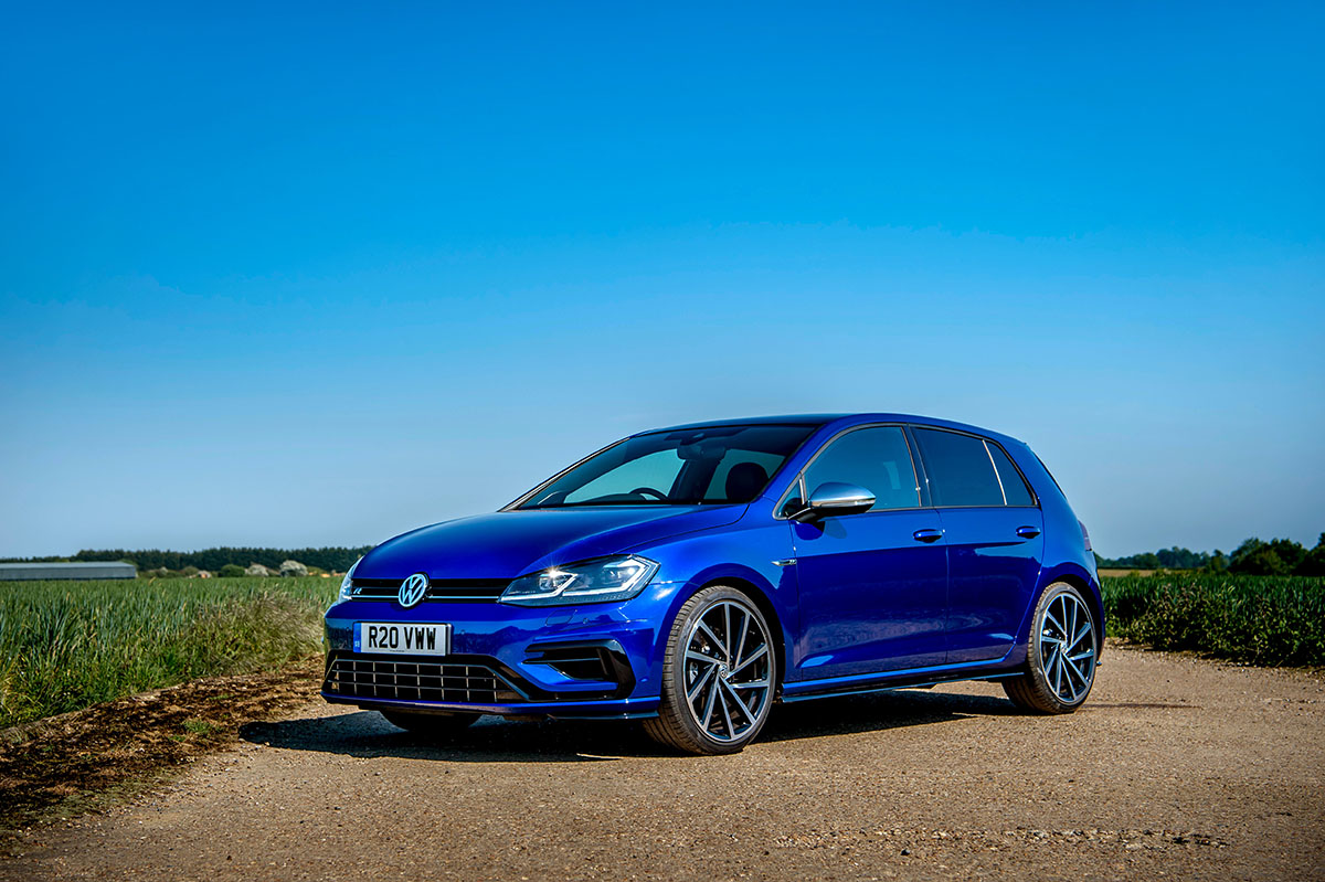 Most popular lease search. Volkswagen Golf R parked.